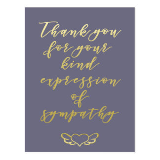 Thank you for your expression of sympathy Postcard
