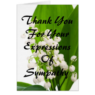 Thank You For Your Expressions of Sympathy Card