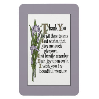 Thank You for Your Good Wishes Rectangular Magnet