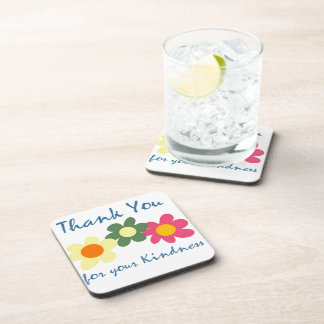 Thank You For Your Kindness Beverage Coasters