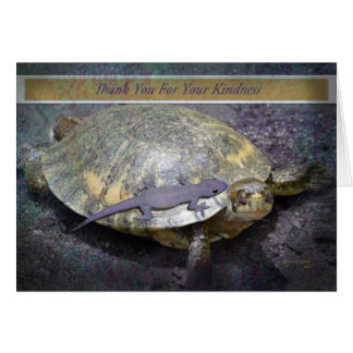 Thank You For Your Kindness - Turtle and Gecko Card