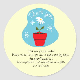 Thank you for your order classic round sticker