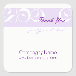 Thank you for your order Corporate D White Sticker