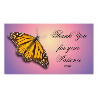 THANK YOU FOR YOUR PATIENCE PACK OF STANDARD BUSINESS CARDS