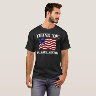 Thank You For Your Service American Flag Shirt