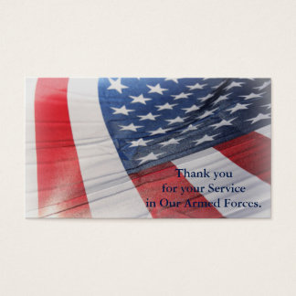 Thank you for your Service Armed Forces Card