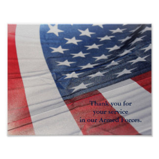 Thank you for your Service Armed Forces Poster