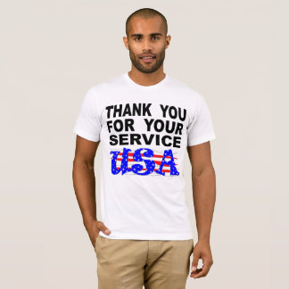 Thank You For Your Service USA Stars And Stripes T-Shirt