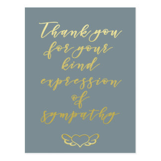 Thank you for your sympathy - Postcard