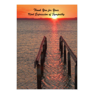 Thank You for Your Sympathy, Sunset, Ocean 13 Cm X 18 Cm Invitation Card