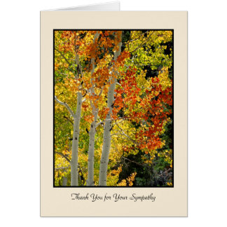 Thank You for Your Sympathy, Three Aspens Card