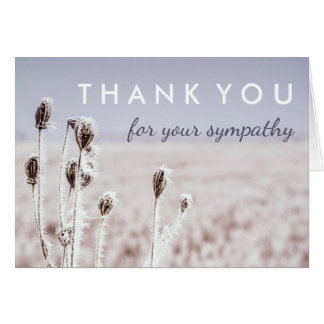 Thank You for Your Sympathy | Winter Card