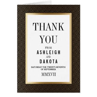 Thank You | Formal Golden Geometric on Black Card