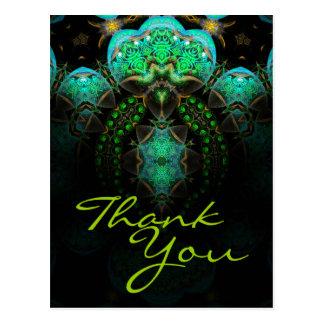 Thank You Fractal Art Postcard - Customized
