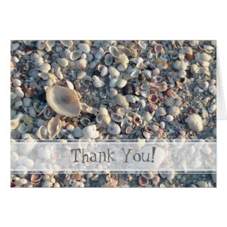 Thank you from the beach card