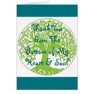 Thank you From the bottom my heart and soul card