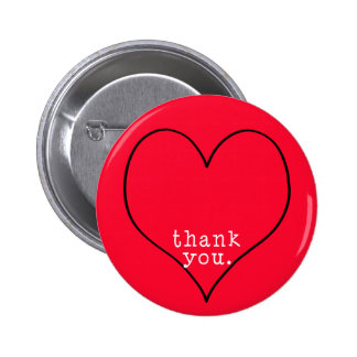 Thank you from the bottom of my heart 6 cm round badge