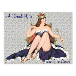 Thank you from the Queen Postcard