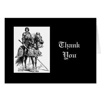 Thank You, Fun Knight in Shining Armor Greeting Card