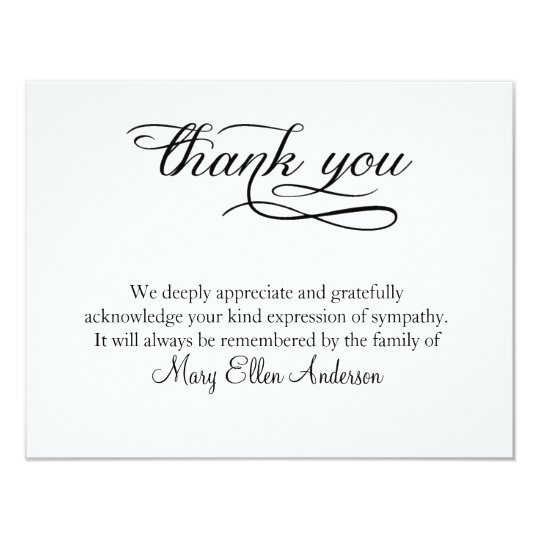 Writing Thank You Notes For Wedding Gifts: Thank You Funeral Thank You Note Card Behreavement