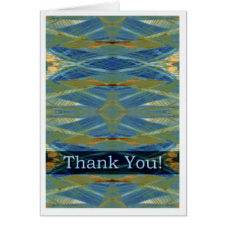 Thank You General Blank Card Abstract