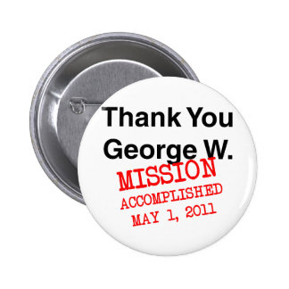 Thank You George W 6 Cm Round Badge