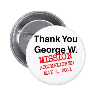 Thank You George W 6 Cm Round Badge
