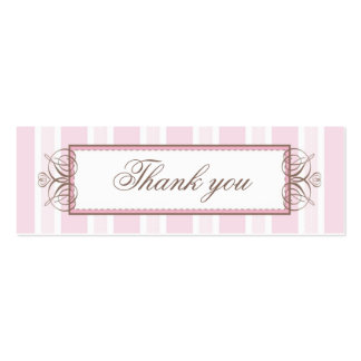 THANK YOU GIFT TAG :: paris stripe Pack Of Skinny Business Cards