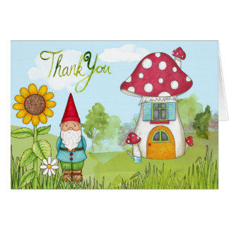 Thank You Gnome Greeting Card