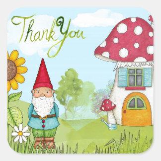 Thank You Gnome Square Sticker