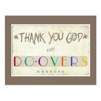Thank You God for Do-Overs Postcard