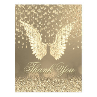 Thank You | Gold Angel Tears Postcard