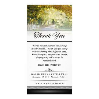 Thank You Gold Autumn Trees Words Cannot Express Picture Card