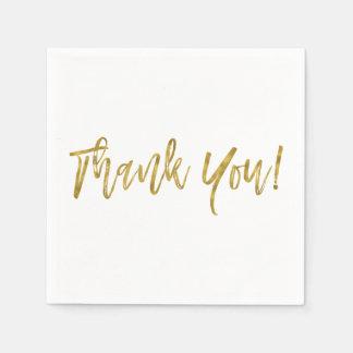 Thank You Gold Foil Napkins Paper Napkin