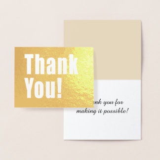 Thank You Golden Decor with Custom Text Foil Card