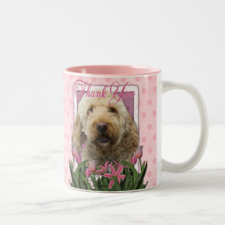 Thank You - Goldendoodle Two-Tone Coffee Mug