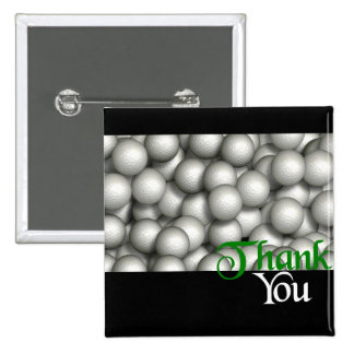 Thank You Golf Balls 15 Cm Square Badge