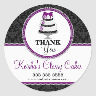 Thank You Gourmet Cake Bakery Box Seals