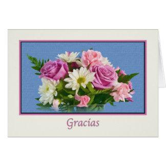 Thank you, Gracias, Spanish Greeting Card