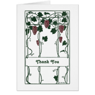 Thank You-Grape Vines-Art Deco-Elegant Card