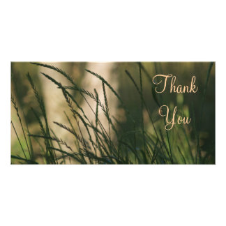 Thank You Grass in Wind Picture Card