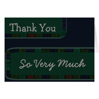 Thank You Green blue Greeting Card