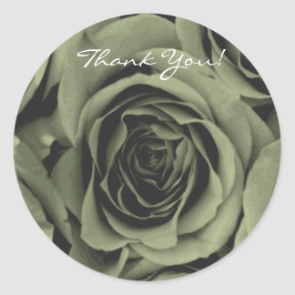 Thank You green Rose Sticker