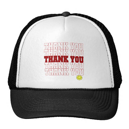 Thank You Grocery Bag Mesh Hats