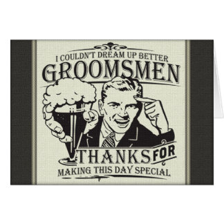 Thank You Groomsmen Cards