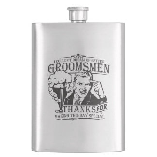Thank You Groomsmen Hip Flask