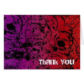 Thank You Grunge Urban Sunset Card