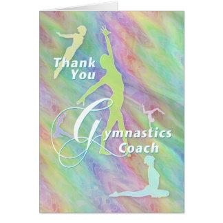 Thank You Gymnastics Coach Greeting Card