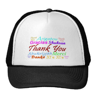 Thank You Hat in 8 languages