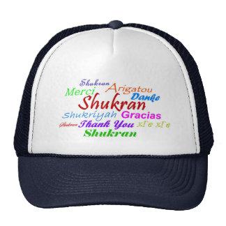 Thank You Hat in 8 languages-Shukran-Arabic